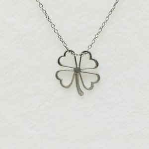 Necklace Four Leaved Clover Silver