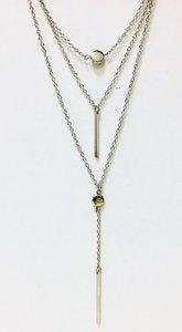Necklace Tripple Silver Bar