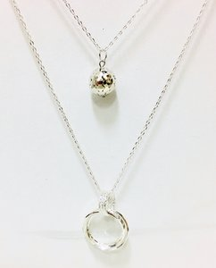 Necklace Tripple Round Silver
