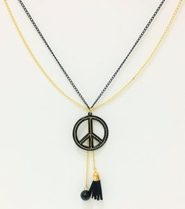 Necklace Double Fantasy Black Meets Gold