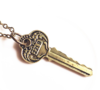 Necklace Key Square Gold